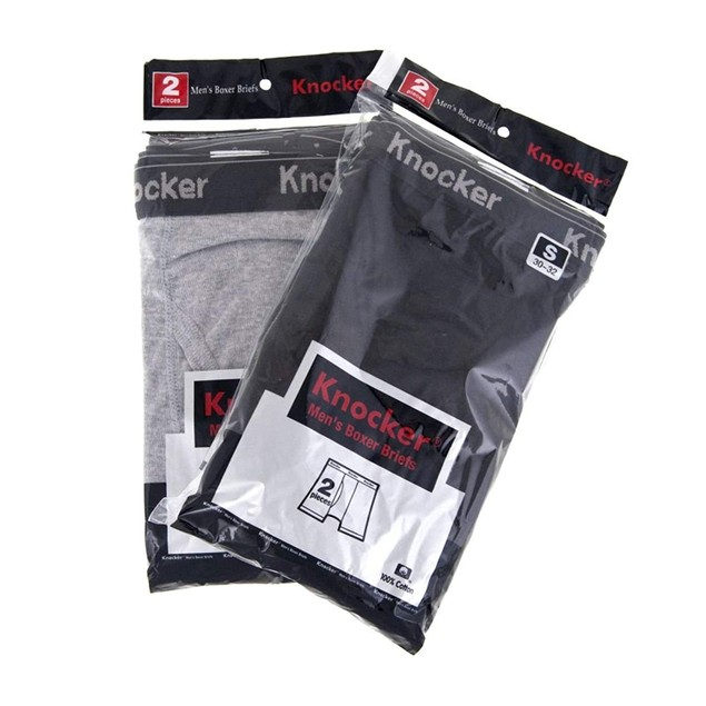 4 Pack Knocker Men's 100% Cotton Boxer Briefs (S-3X)