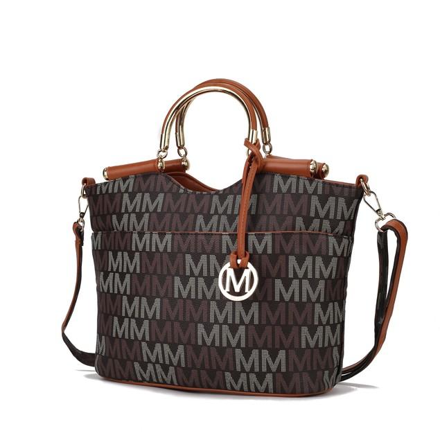 MKF Collection Mayra Milan M Signature handbag by Mia K
