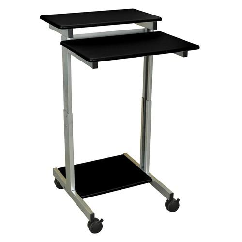 """Luxor 24"""" Adjustable Stand Up Presentation Station - Black"""