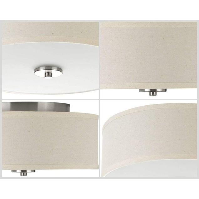 Inspire Collection 17 Watt Brushed Nickel LED Light Ceiling Fixture Flush
