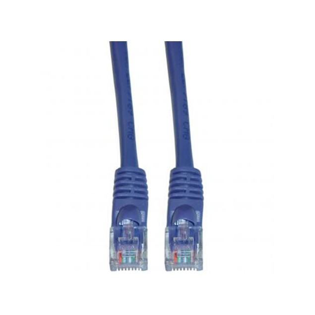 Cat5e Purple Ethernet Patch Cable, Snagless/Molded Boot, 7 foot