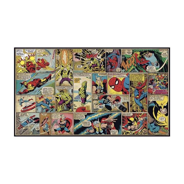 Roommates Decor Marvel Classics Comic Panel XL Wallpaper Mural 10.5' x 6'