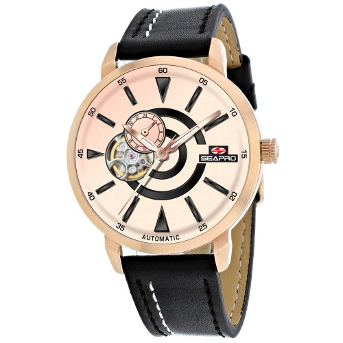 Seapro Men's Elliptic Rose Gold Dial Watch - SP0144