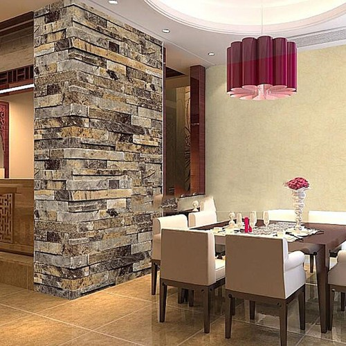 """Brick Wallpaper, Textured, Waterproof for Home Design and Room Decoration, Super Large Size 10m x 0.53m / 393.7"""" x 21"""""""