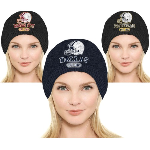 Women's Game Day Football Beanies Winter Hats