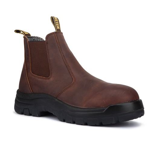 ROCKROOSTER Work Boots Pull On Soft Toe Safety Boots for Men AK224