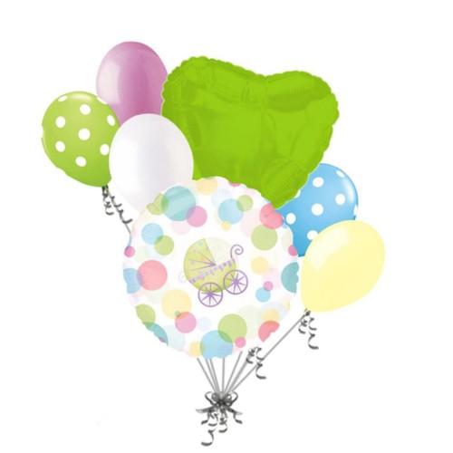 """Anagram Foil Balloon w/ Polka Dot Design 18"""" / 45cm, Multicolor, Pack of 1"""