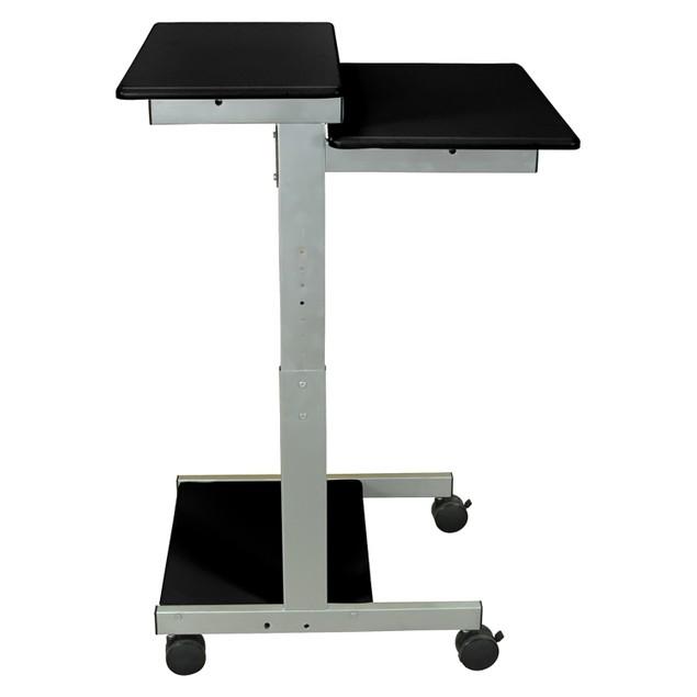 """Luxor 24"""" Adjustable Stand Up Presentation Station - Black, 1 Pack"""