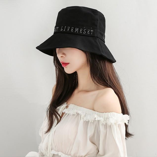 Unisex Embroidered Letter Basin Hat
