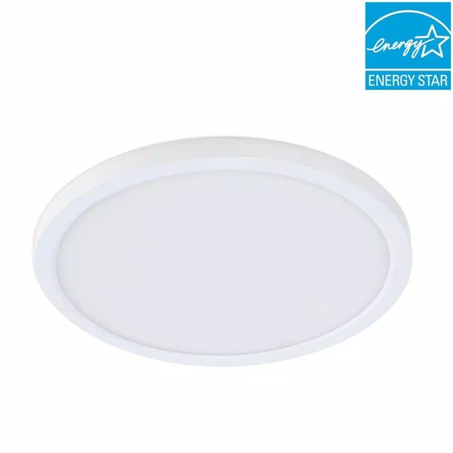 """Feit Electric 7.5"""" 12-W Title 24 Dimmable Integrated LED Round Flat Light,"""