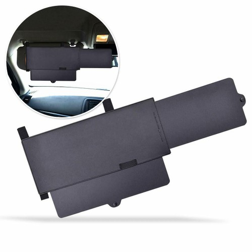 Zone Tech Car Sun Visor Shade Ray Blocker Windshield Extendable Anti Glare