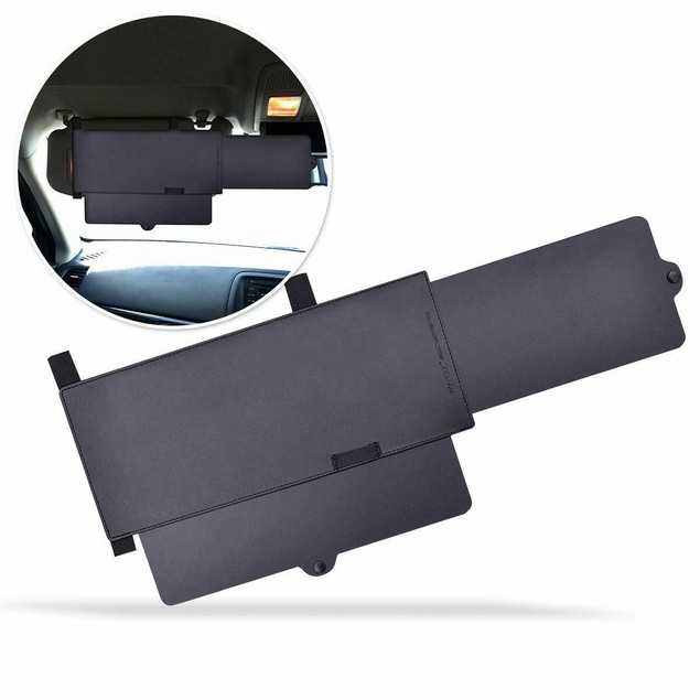 Zone Tech Car Sun Visor Shade Ray Blocker Windshield Extendable Anti Glare