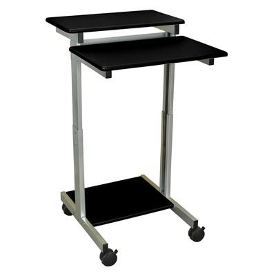 """Offex 24"""" Adjustable Stand Up Presentation Station - Black, 1 Pack"""