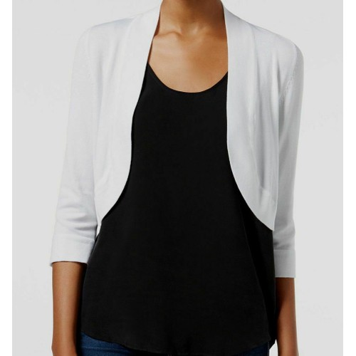 Jessica Howard Women's Bolero Cardigan White Size Medium