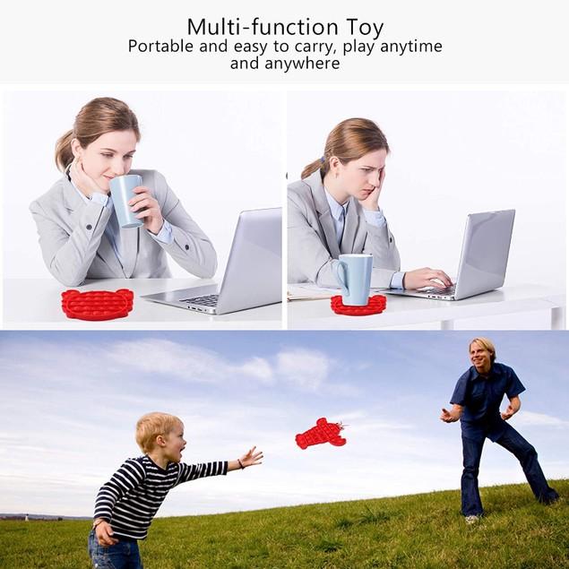 2-Pack Pop Push Bubble Special Sensory Fidget Toys(Crab + Lobster)