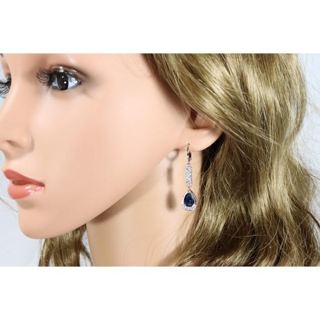 Blue zircon dangle earrings