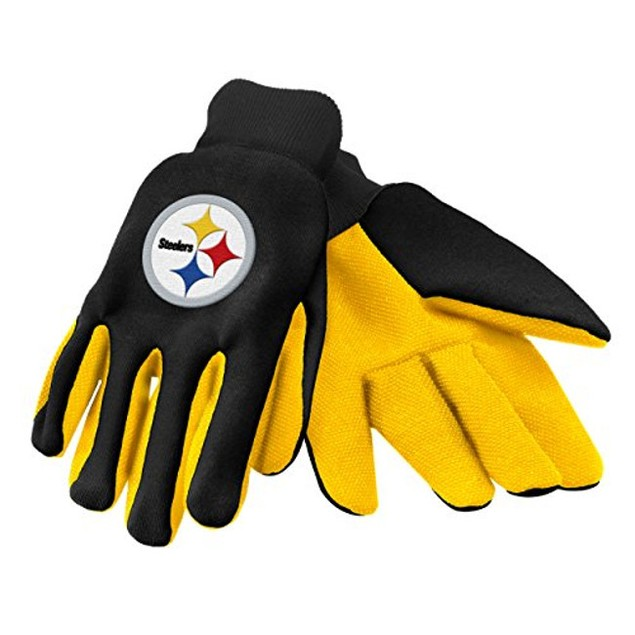 Pittsburgh Steelers NFL Work Gloves (Pair) Football Team Logo Grip PIT