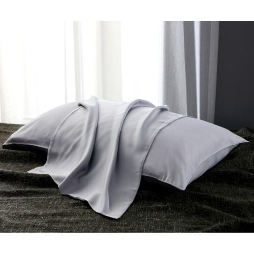 2 Pack: Ultra Soft 100% Bamboo Fiber Silver/Gray Pillowcase