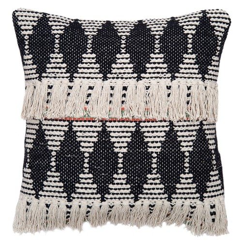 """Spura Home Olaf Black Transitional Square Style 18""""x18"""" Pillow Cushion"""