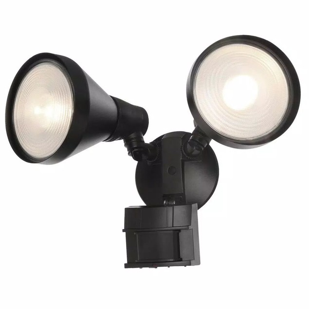 Defiant 110° Motion Detection Activated Security Outdoor Flood Light, Black