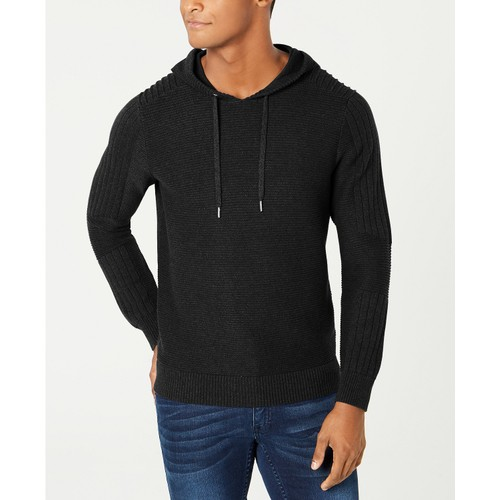 INC International Concepts Men's Hooded Sweater  Black Size Extra Small
