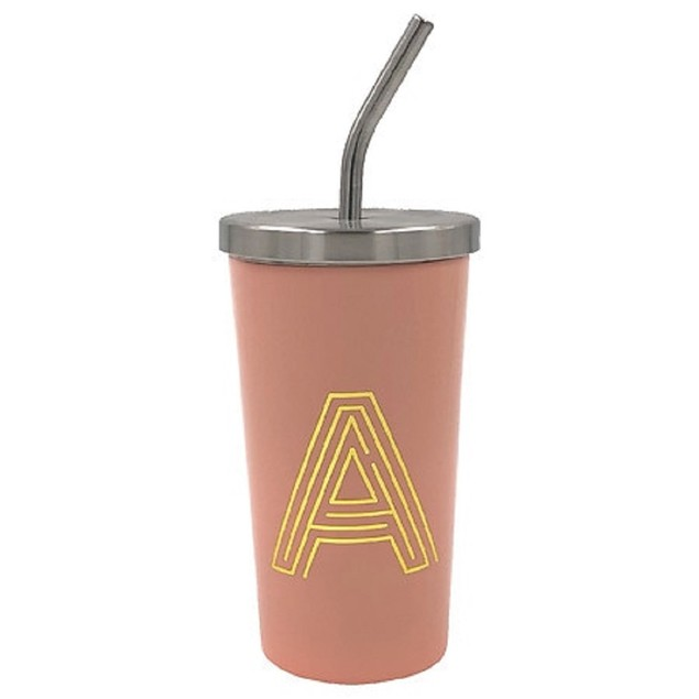 """Modern Expressions Vacuum Insulated """"A"""" Monogrammed Steel Tumbler, Brandy"""