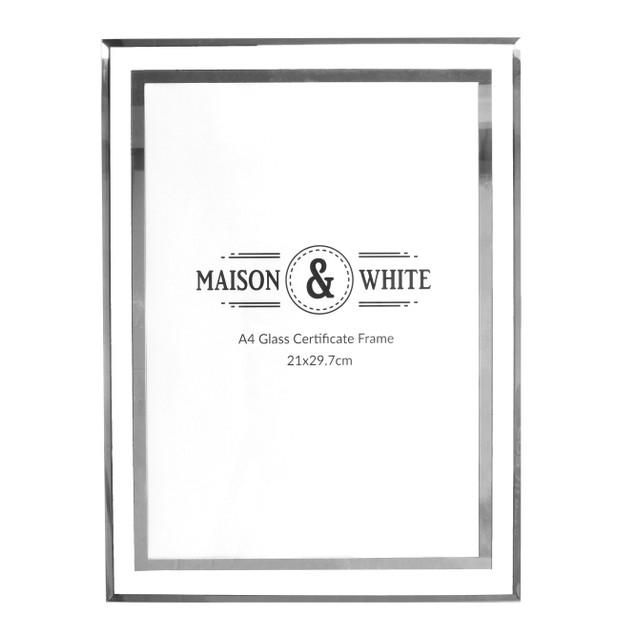 A4 Photo Certificate Mirrored Glass Frame | MandW