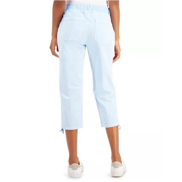 Style & Co Women's Tie Hem Capri Pants Bright Blue Size 4