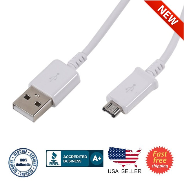 Samsung Data Cable for Micro USB Slot Devices - Non-Retail Packaging White