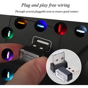 2 Pack Universal USB LED Car Interior Light