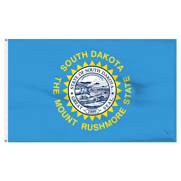 South Dakota 3'x5' Flag USA United States Of America Territory State Nylon