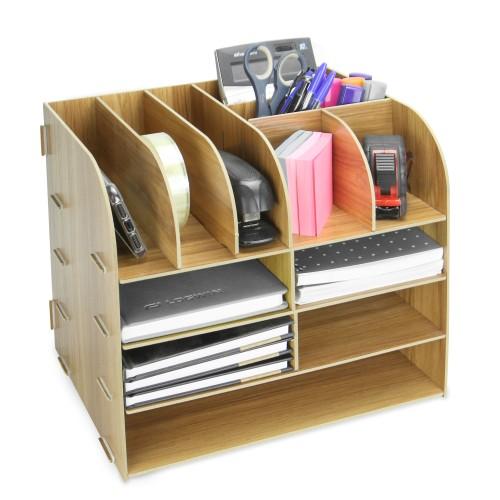 Wooden Square Desktop Organiser | Pukkr