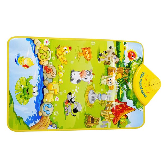 Farm Animal Musical Music Touch Play Singing Gym Carpet Mat Toy