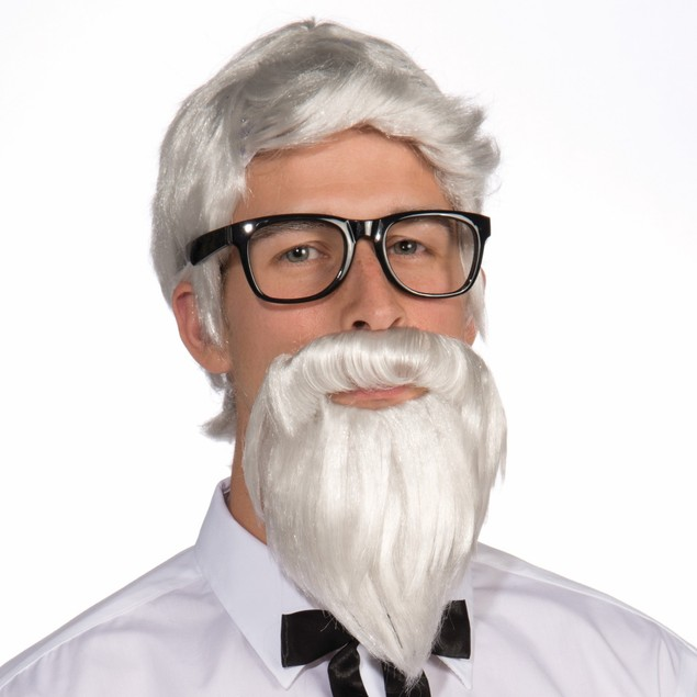 Southern Colonel White Wig and Beard