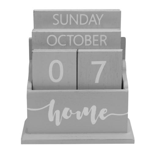 Wooden Vintage Perpetual Calendar | MandW Grey