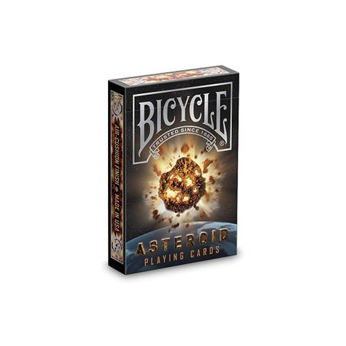 Bicycle Asteroid Unique Vibrant Colors Playing Cards, Black
