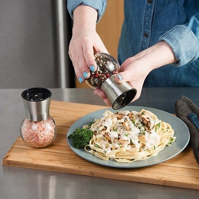 Salt and Pepper Grinder Bottle Manual Grinding Spice Mill Bottle Cruet