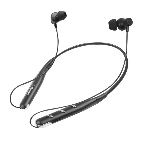 Bluetooth Built-in HD Headset Behind the Neck Headphones Noise Reduce Unisex