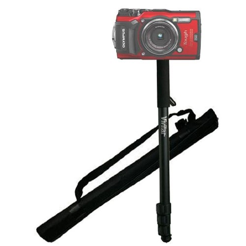 """62"""" Vivitar Monopod With Case for Olympus TG-5 and other Waterproof Cameras"""