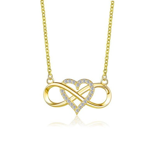 Gold Plated Infinity Heart Necklace