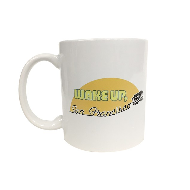 Wake Up San Francisco White 11 oz Coffee Mug