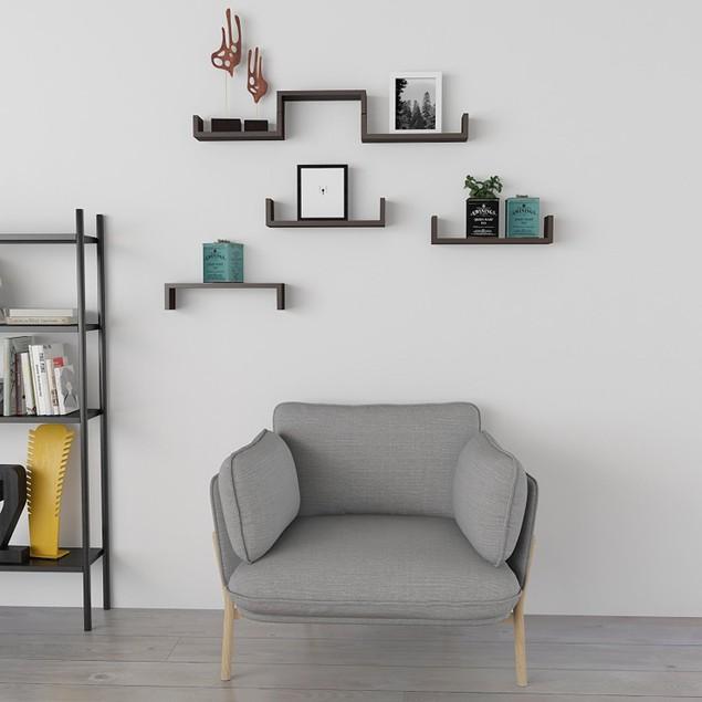 Set of 3 Floating Display Shelves Ledge Bookshelf Wall Mount Storage