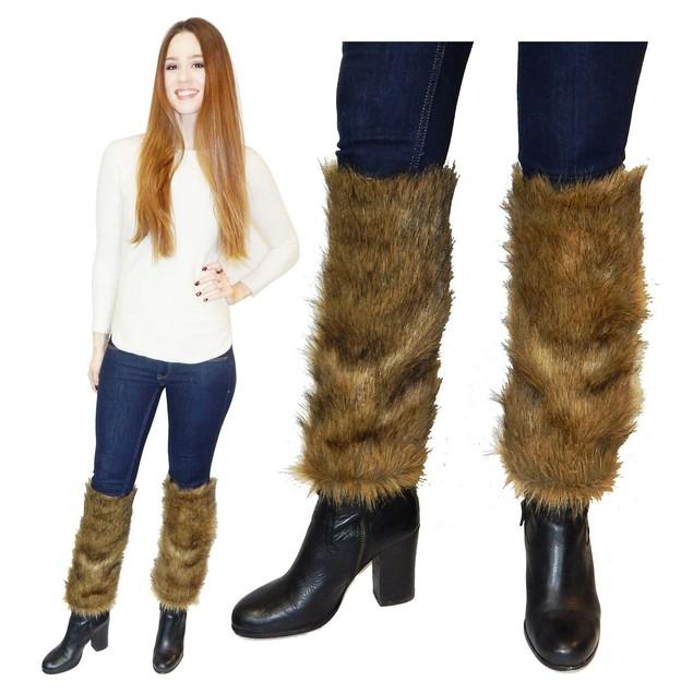 Women's Faux Fur Leg Warmer Sleeves