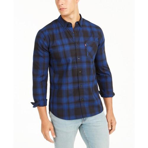 Levi's Men's Chama Plaid Shirt Caviar Size Medium