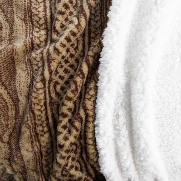 Lavish Home Flannel/Sherpa Blanket