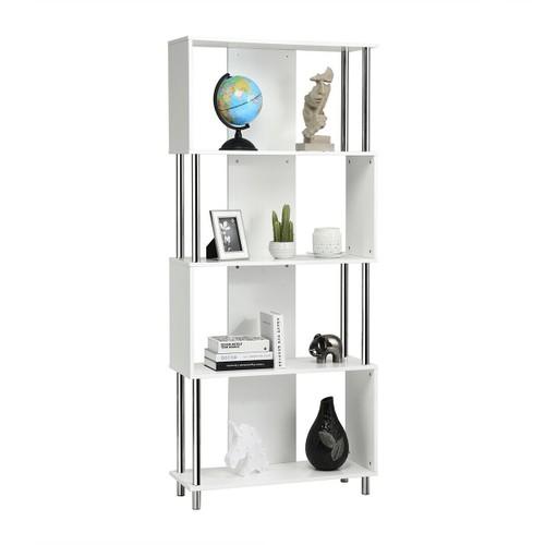 Costway 4-Tier Bookcase Modern Display Shelf Organizer Snaking Storage Rack