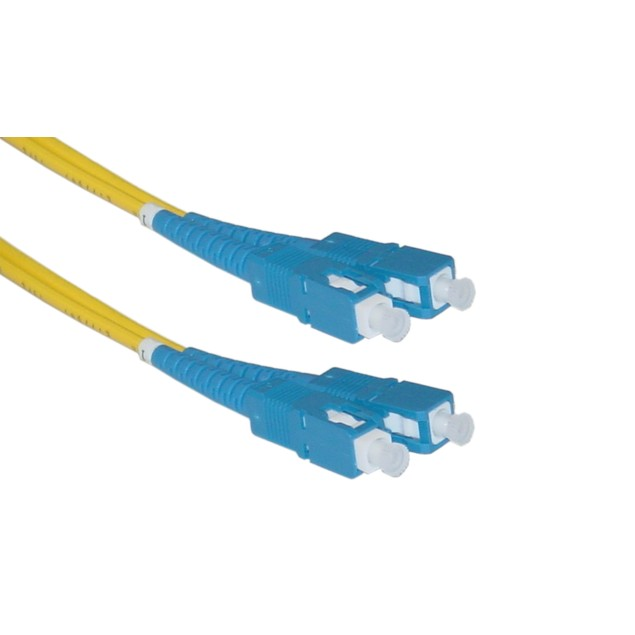 Fiber Optic Cable, SC / SC, Singlemode, Duplex, 9/125, 1 meter (3.3 foot)