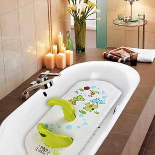 HK INFANT BABY SAFETY BATH SUPPORT SEAT NON-SLIP SENSITIVE BATH MAT (GREEN)