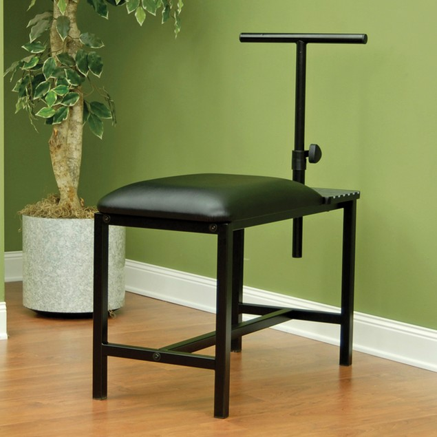 Studio Designs Metal Artist Bench with Padded Seat - Black