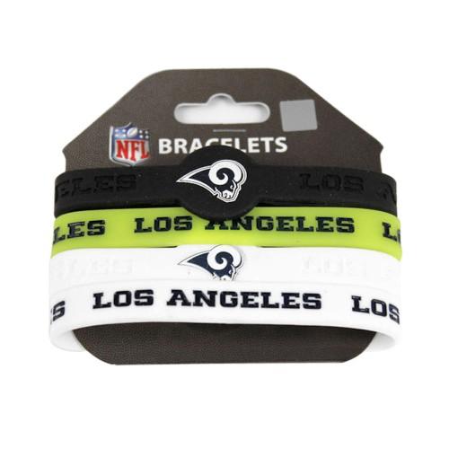 LA Los Angeles Chargers NFL Silicone Rubber Wrist Band Bracelet Set of 4